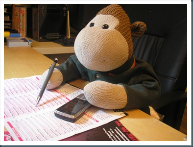 Monkey with Takeaway Menu