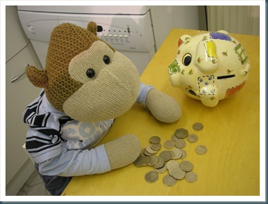 Monkey with Piggy Bank