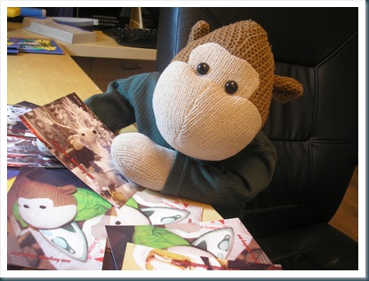 Monkey and Postcards