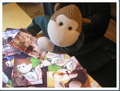 Monkey postcards