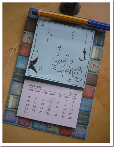 Gone Fishing Notes.calendar