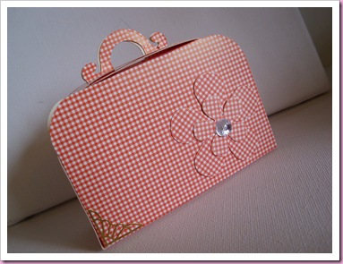 Pink Gingham Sizzix Suitcase