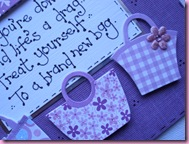 Close Up of handbag card