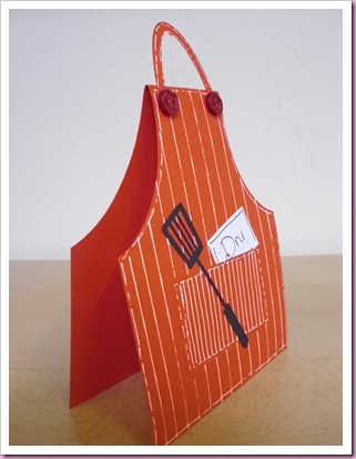 Cookery Apron Place Card