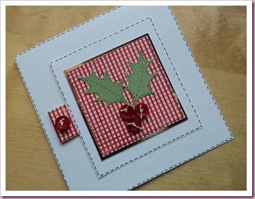 Holly Christmas Cards Using Buttons (2)