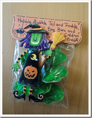 Halloween Sweetie.Candy Bag, Hubble Bubble
