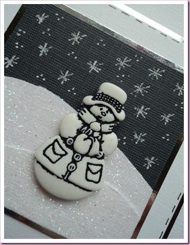 Snowman Button card 2