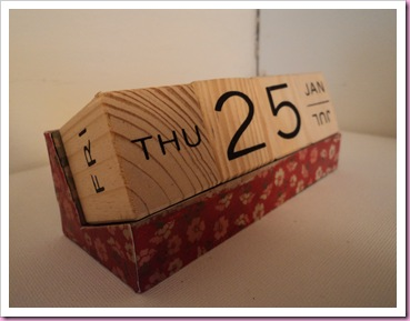 Altered desk Calendar