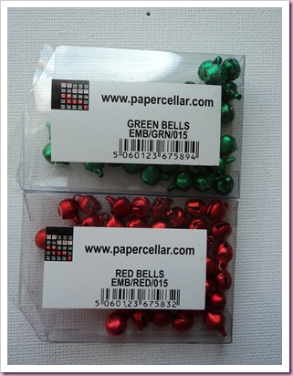 Papercellar green and red bells