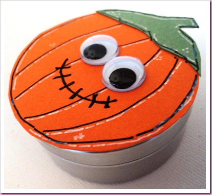 Halloween Pumpkin Favour Tin
