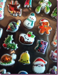 Paperchase Puffy Christmas stickers