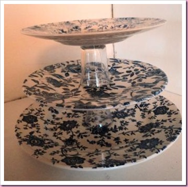 Old Crock Recycled Cake Stand