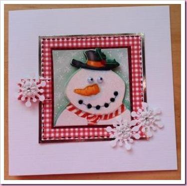 Snowman Gift Tag Card