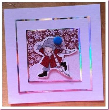 Little Girl Skating Christmas Card