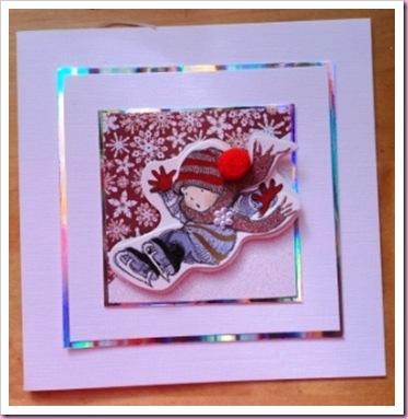 Skating Girl Christmas Card
