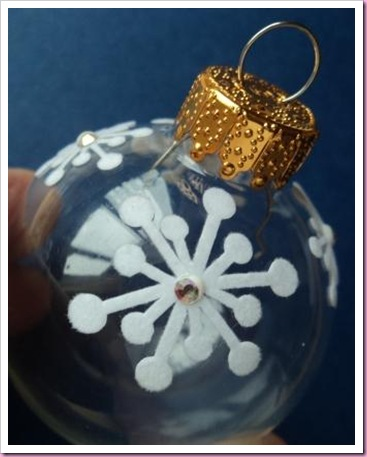 Altered Clear Christmas Tree Bauble