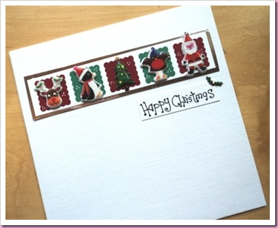 Accessorize Stickers Christmas Card