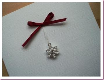 Snowflake Charm Christmas Card