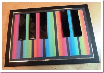Rainbow keyboard Card