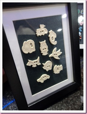Framed buttons