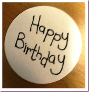 Happy Birthday Circle for Stampin Up Punch 1