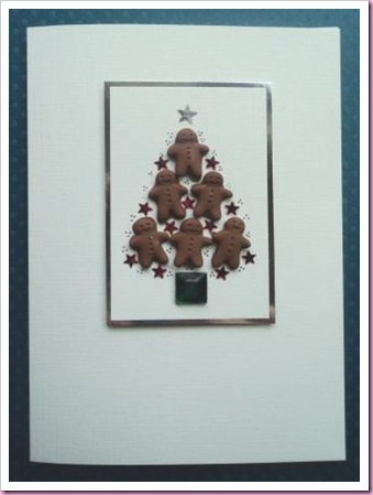 Gingerbread Man Christmas Tree card