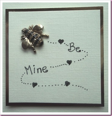 Bee Mine Valentine card 1