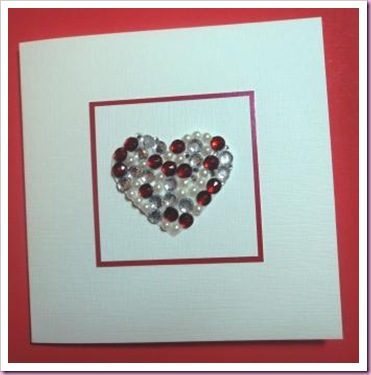 Jewelled heart valentine Card 3