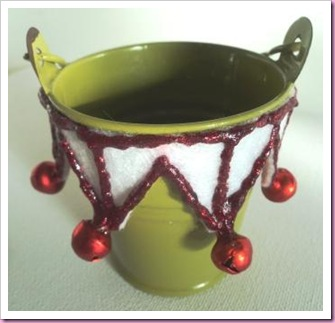 Enamel Bucket Tea Light Holder