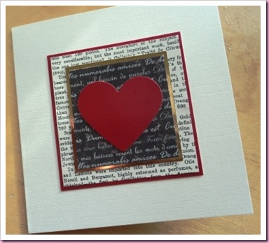 Valentine Card Using Text paper