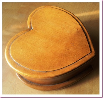 Wooden Heart Shaped Box