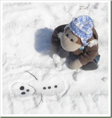 Flat snowman