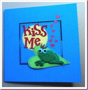 kiss Me Frog Card a