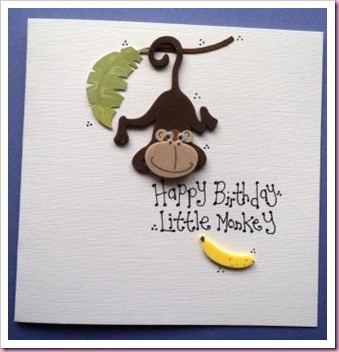 Little Monkey Card