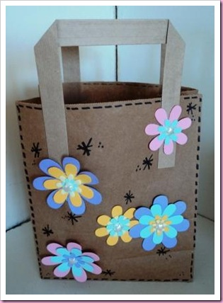 Altered Brown Lunch  Bag