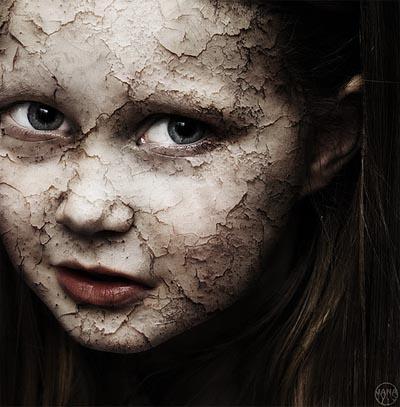 Cracked GirlFace