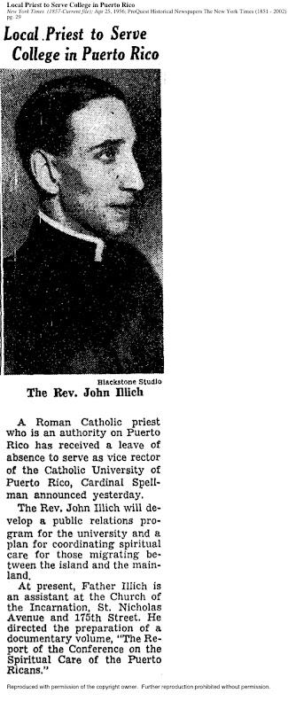 Illich NYT 1956