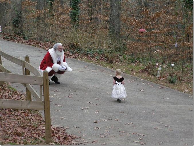 Cadence & Santa 2010 - 2
