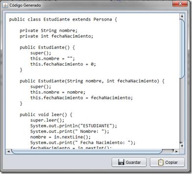 generador de clases codigo