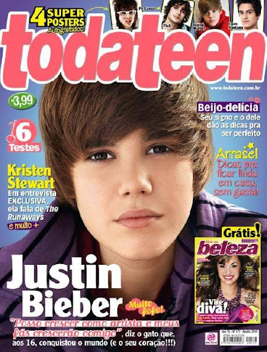 Justin Bieber TODATEEN COVER BOY