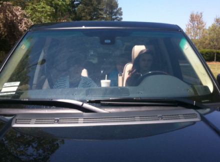 Caitlin Beadles drive Justin Bieber around in his Range Rover