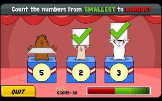 Screenshot of TVOKids Tumbletown Mathletics