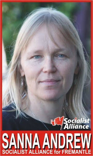 Sanna Andrew Socialist Alliance candidate for Fremantle