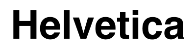 Black Helvetica