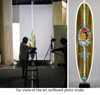'Hobie Polarized' from the web at 'http://lh3.ggpht.com/_Y1TSrohwgZQ/SosITezuOLI/AAAAAAAAAcI/K4xnkeJ1idk/s800/surfboard_studio_board.jpg'