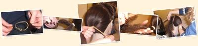 Vis hestehale med strikk og spenner + tupeering