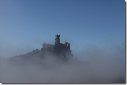 The National Palace of Pena with Fog in the foreground