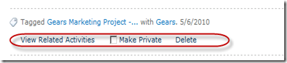 SharePoint 2010 Tags Options