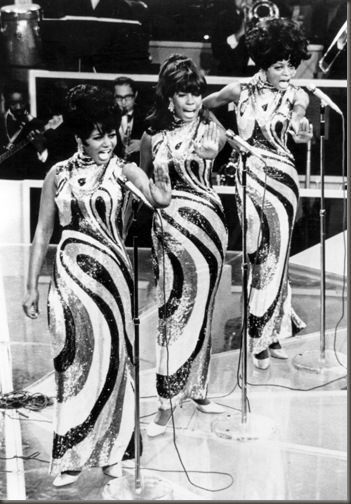 Diana Ross and the Supremes at the height of their popularity in 1968.