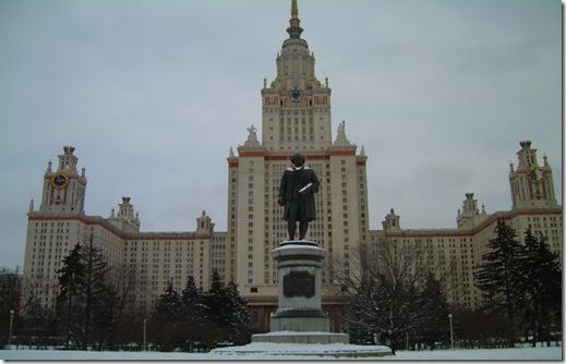 """Главное здание МГУ им. М.В.Ломоносова. Те самые """"башни-невидимки"""", которых якобы нет в этом монументальном здании."""